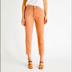 Etica Alex high waist slim jeans. Coffee